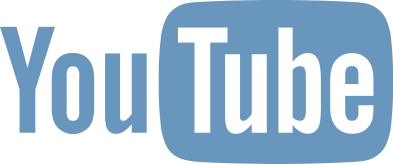 Youtube logo blue