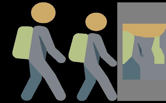Alumnos caminando al colegio
