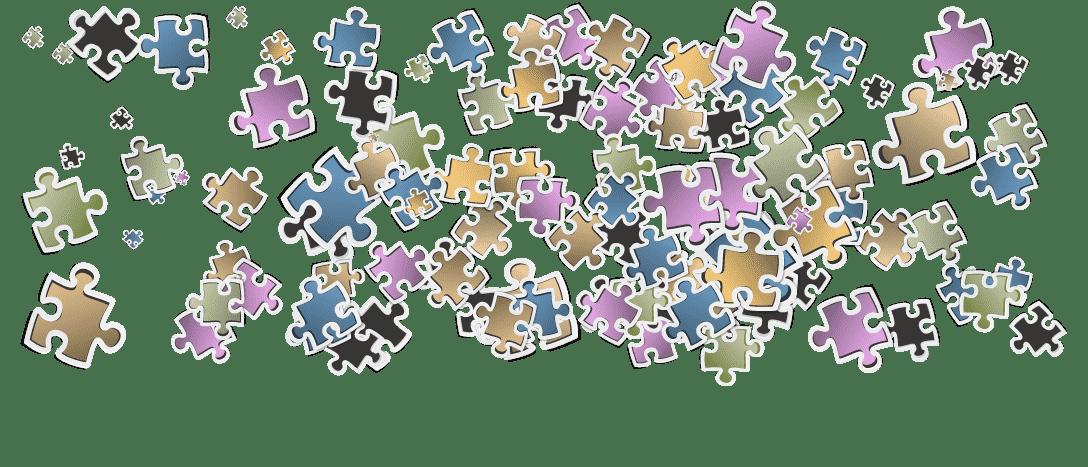 Piezas de puzzle coloridas